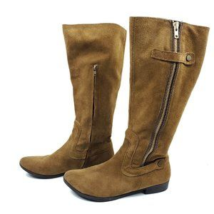Apepazza Chestnut Suede Leather Lodi Riding Boots